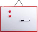 Детская магнитная доска для рисования маркером Пифагор, 45х30 см, белая, красная рамка
