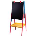 Мольберт детский двухсторонний для рисования, 60х45 см, деревянный
