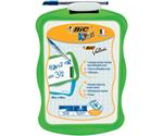 Детская двухсторонняя доска для рисования маркером Bic, 20х30 см, белая/клетка, фигурная пластиковая рамка