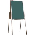 Мольберт детский двухсторонний для рисования мелом, 50х75 см, металлический