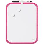 Детская магнитная доска для рисования маркером, Bi-Office, 21.6х27.9 см, розовая рамка