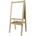Мольберт детский двухсторонний для рисования, 55х66 см, деревянный